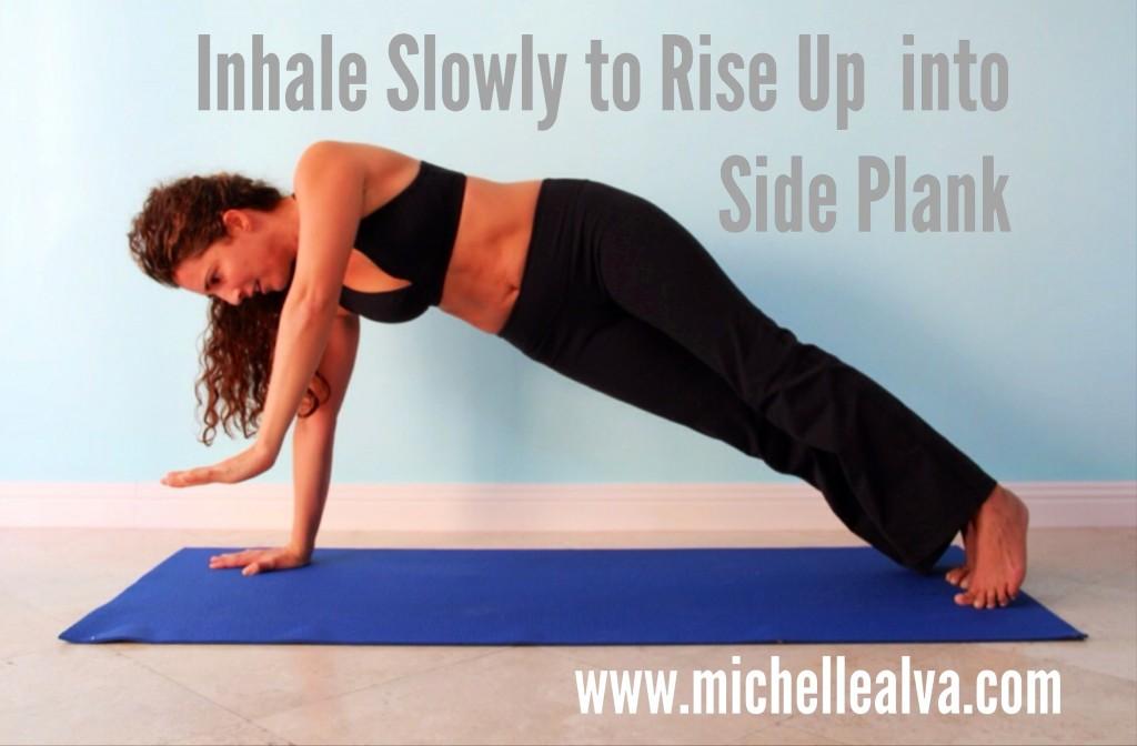 Yoga Pose Transition To Plank Pose Side Plank Pose